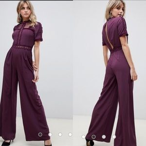 ASOS Tea Lace Jumpsuit